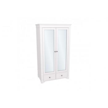 Шкаф 2-х дверный с зеркальными дверями БЕЙЛИ