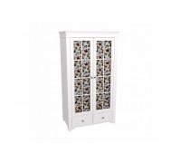 Шкаф 2-х дверный со стеклянными дверями БЕЙЛИ
