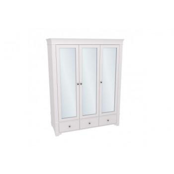 Шкаф 3-х дверный с зеркальными дверями БЕЙЛИ