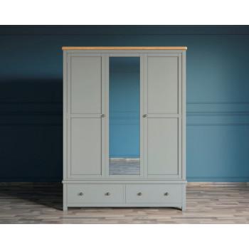 Шкаф двухстворчатый Жюль Верн с зеркалом