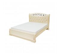 Кровать Сиена с мягкой вставкой и ковкой