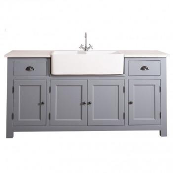 Кухонный модуль с двойной квадратной раковиной Матильд