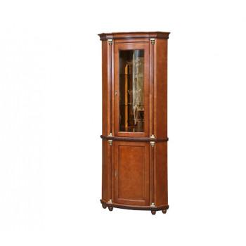 Угловой шкаф с витриной Валенсия 01